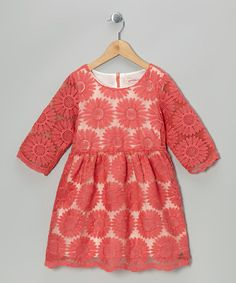 Take a look at this Red Daisy A-Line Dress - Toddler & Girls by Paulinie on #zulily today!