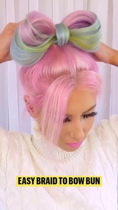Braided Hairstyles Tutorials, Fancy Hairstyles, Hair Up Styles, Natural Hair Styles, Blow Hair, Beautiful Hair Color, Alternative Hair, Hair Today, Hair Designs