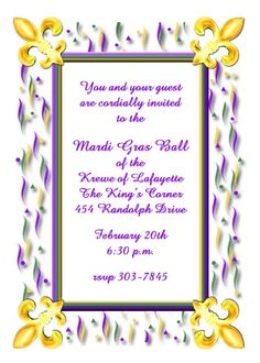 34 Best Mardi Gras Invitations Images Birthday Party Invitations
