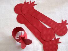 Napkin ring napkin holder red pomegranate.8 colors available. For Rosh hashana by Pomegranatree
