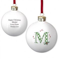 holly bauble with initial