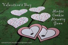 Valentine's Day Music Cookie Memory Game