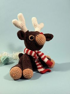 Murray the reindeer FREE Crochet Pattern