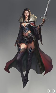 sword girl, ㅇㅇ Joo on ArtStation at https://www.artstation.com/artwork/oQGDL