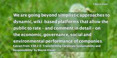 "Quotation from ""CSR 2.0"" (book) by Wayne Visser. Photograph by Wayne Visser. Copyright 2013 & 2014."