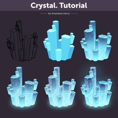 Tutorial by Anastasia-berry on DeviantArt - Crystal. Tutorial by Anastasia-berry on DeviantArt Crystal. Tutorial by Anastasia-berry Support t - Digital Painting Tutorials, Digital Art Tutorial, Art Tutorials, Drawing Tutorials, Drawing Tips, Concept Art Tutorial, Coloring Tutorial, Poses References, Environment Concept Art