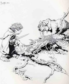 Middle Earth - Frank Frazetta ~ the Lord of the Rings