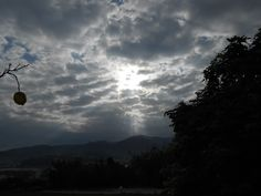 Una vista nocturna desde la casa donde pasamos unos días de vacaciones en Viveiro (Lugo)