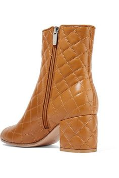 Gianvito Rossi - 60 Quilted Leather Ankle Boots - Tan - IT