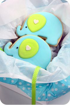 elephant decorated cookies | Flickr - Photo Sharing!