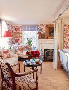 Cottage Furniture, Cabin Interiors, Transitional Living Rooms, Guest Bedrooms, Cottage Bedrooms, Master Bedrooms, Traditional Interior, Beautiful Bedrooms, Bed Design