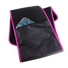 RBX Thermal Waist Slimming Belt  Gel Pack to Heat or Freeze Black  Pink More Colors Available ** You can find out more details at the link of the image.
