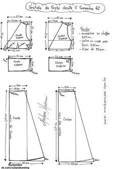 Выкройка платья, размер 36-46 (Шитье и крой) | Журнал Вдохновение Рукодельницы