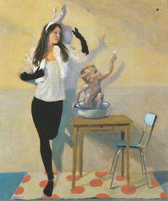 Sophie MORISSE, Ombres chinoise, 46 x 55 cm, huile sur toile