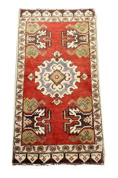 Turkish handmade Oriental carpet rug Small size by kilimwarehouse, $90.00