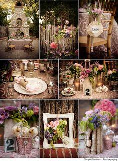 Very rustic elegance. My dream outdoor wedding theme.