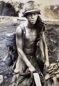 1st Air Cav soldier in Cambodia   Vietnam War
