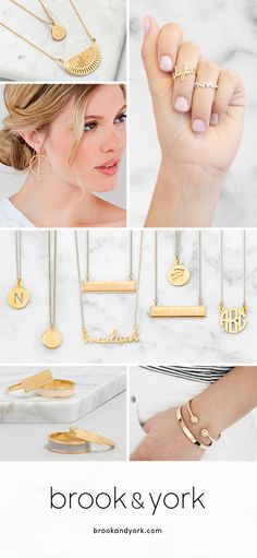 Save off your order with code and create a custom gifts for her. Personalized jewelry gifts from Brook & York is a simple solution for all your gift giving needs. Choose from a whole collection of American-inspired, American made jewelry from c Body Jewelry, Jewelry Gifts, Jewelry Accessories, Fine Jewelry, Jewelry Box, Jessica Clement, The Bling Ring, Do It Yourself Fashion, Engraved Bracelet