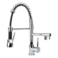 BAI 0600 Single Handle Two Spouts Kitchen Faucet With Pull-Down Spray