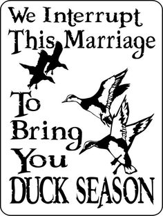 "DUCK Hunting Sign 9""x12"" ""ALUMINUM"" 1210d"