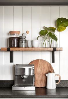 Fixer Upper Rustic Farmhouse Floating Shelf with Flat Iron brackets. Bathroom or Kitchen Storage, Open Shelving, Industrial Floating - Fixer Upper Rustic Farmhouse Floating Shelf with Flat Iron Magnolia Homes, Magnolia Fixer Upper, Magnolia Market, Magnolia Kitchen, Magnolia Design, Kitchen Shelves, Wood Shelves, Kitchen Storage, Pipe Shelves