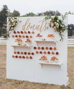 """8,183 Likes, 220 Comments - Wedding Dream (@weddingdream) on Instagram: """"Care for a donut? Why not make a donut wall on your big day? As a substitute for dessert corner,…"""""""