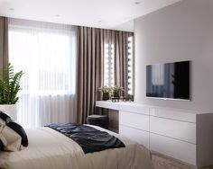 Bedroom ideas for modern to rustic schemes. Tips and tricks for creating a master bedroom decor. Modern Bedroom Design, Home Room Design, Master Bedroom Design, Home Interior Design, House Design, Interior Livingroom, Contemporary Bedroom, Small Room Bedroom, Home Decor Bedroom