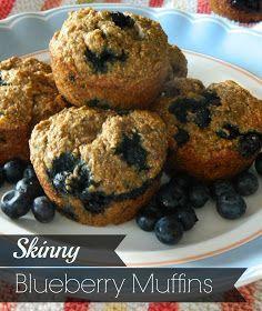 Skinny Blueberry Banana Muffins Recipe via @SparkPeople