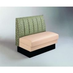 This fully upholstered booth features a foam padded inside back.  Many customizable options available.