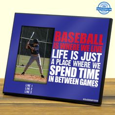 Make your room the ultimate baseball room with one of our personalized baseball photo frames. Check out our wide selection at ChalkTalkSPORTS.com!
