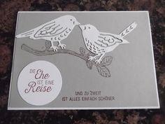 Sconebeker Stempelscheune - Stampin up Sets : Blühende Worte, Hochzeitskarte, Vogelhochzeit,