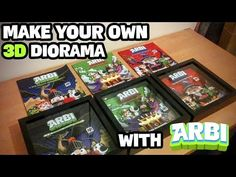 ARBI Augmented Reality Book for kids - Make your own 3D Diorama with ARBI - YouTube
