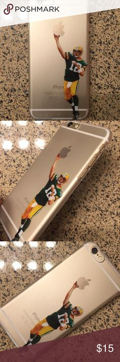 Aaron Rodgers Packers iPhone case New iPhone Aaron Rodgers semi transparent plastic shell case with printed image, not a sticker the image is on the case available in multiple sizes Jordan Accessories Phone Cases