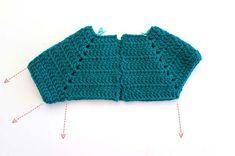 La guia definitiva para tejer un sueter raglan a crochet - Marina Torreblanca Blog Bikini Crochet, Crochet Beach Dress, Knit Crochet, Baby Girl Crochet, Crochet For Kids, Crochet Shoes, Crochet Clothes, Baby Knitting Patterns, Crochet Patterns