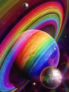 Rainbow planet and rings