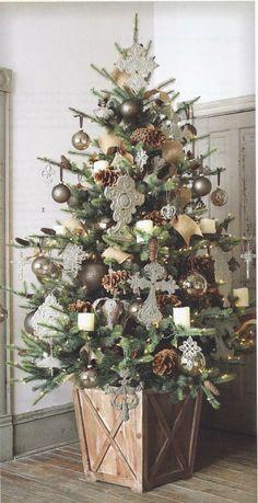 pretty planter (fewer ornaments!)