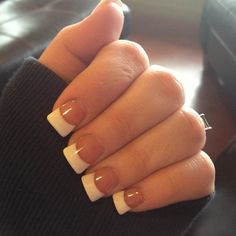 Fake nails french, classic french manicure, white tip nails, wide nails Fake Nails French, French Acrylic Nails, French Manicures, Hair And Nails, My Nails, Duck Nails, Bling Nails, Wide Tip Nails, Gorgeous Nails