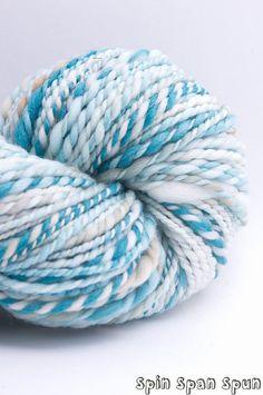 A Simple Beauty, Handspun Handpainted Organic Merino Yarn, 100 y, heavy worsted by SpinSpanSpun on @Etsy