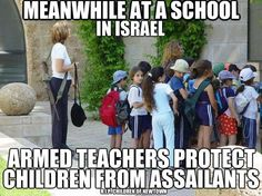 If only every kindergarden-5th grade teacher carried an assault rifle, we'd be much safer.    Just like they are in Israel, or something.
