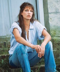 jane birkin in denim