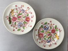 "1920's 10"" Dinner Plates English Bouquet (Old English) by JOHNSON BROTHERS -  One Plate Johnson Bros, Johnson Brothers, Vintage Tableware, Kitchen Ware, Noritake, Old English, Salt Pepper Shakers, Serving Platters, Vintage Children"