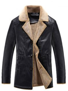 GET $50 NOW | Join RoseGal: Get YOUR $50 NOW!http://www.rosegal.com/mens-jackets/turn-down-collar-single-breasted-pu-leather-fleece-793169.html?seid=3634767rg793169