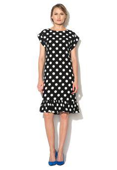 Rochie negru cu alb cu buline Aniela - limitte