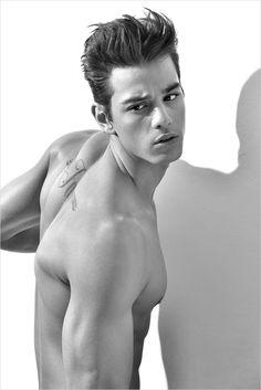 """Scott Gardner in """"Scene Stealer"""" by David Brad                        -  http://www.malemodelscene.net/fresh-faces/scott-gardner-david-brad/ #malemodel #sixpack #hotguy #photography #classic #DavidBrad"""