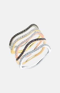 Bony Levy Wavy Stackable Diamond Ring (Nordstrom Exclusive) | Nordstrom