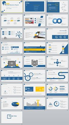 25+ Simple Blue annual report PowerPoint Template Powerpoint Slide Designs, Powerpoint Design Templates, Ppt Design, Layout Design, Booklet Design, Brochure Design, Flyer Template, Graphic Design, Business Presentation Templates