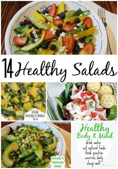 14 healthy #salads from Call Me PMc Linda Bauwin CARD-iologist Helping you create cards from the heart