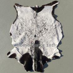 Exotic Black & White Goatskin - cowhidesinternational.com