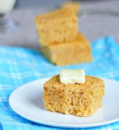 Soon to be your new favorite cornbread recipe... you'll be going back again and again for another slice. Luckily, this recipe is much healthier than that famous Jiffy mix.