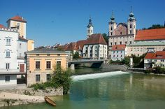 """""""Steyr,"""" by twiga_swala, via Flickr -- Confluence of rivers Steyr and Enns in Steyr, Austria"""